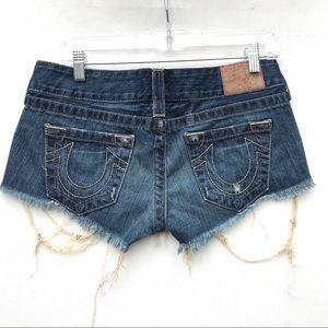 True Religion Bobby Cutoff Jeans Sz 27 denim euc
